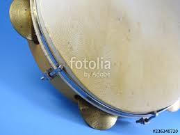 close up of a brazilian al percussion instrument pandeiro tambourine it