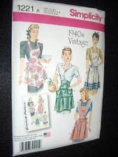 Vintage Apron Patterns Magnificent Apron Pattern EBay