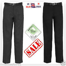 Ebay Pants Size Chart Details About Boys Children School Trousers Sturdy Stocky Wider Fit Half Elasticated Pant Size