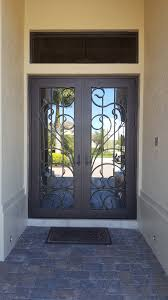recently we received a message regarding the repainting of a large iron front door with glass