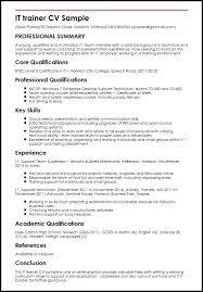 Training Resume Sample Training Example Athletic Trainer Resume