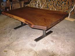 Black Walnut Coffee Table Black Walnut Coffee Table Steel T Base Woodrich Pa