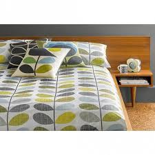 orla kiely house scribble stem duck egg seagrass pillow cases set of 2