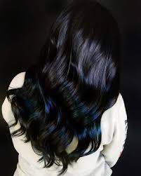 Subtle Blue Highlights 21 Stunning Blue Black Hairstyles Ideas To Rock In Asap Fashionuki