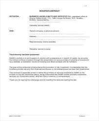 5 Small Business Investment Agreement Templates Pdf Word Apple
