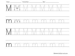 letter M tracing