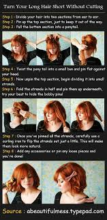 hair short without cutting tutorial