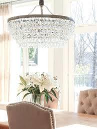 crystal chandelier dining room modern