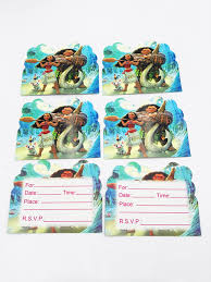 Birthday Invitation Pictures Impressive 48pcslot Moana Paper Invitation Card Kids Birthday Invitation Card