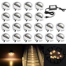 led stair lighting kit. QACA 20 Pack LED Stair Lights Kit Low Voltage Waterproof IP65 Outdoor 1-2/ Led Lighting