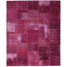 overdyed pink rug one of a kind corrie patchwork hand knotted wool pink area overdyed pink rug