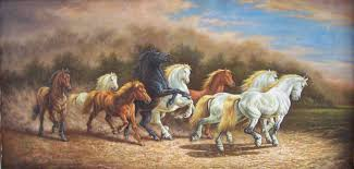 high quality eight horses oil painting oil painting on alibaba com
