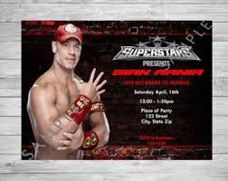 Small Picture John Cena Printable Birthday Party Invitation WWE Birthday