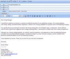 how to send resume for job in email