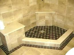 replace shower pan with tile replacing shower floor tile shower pan tiles tile fiberglass base over