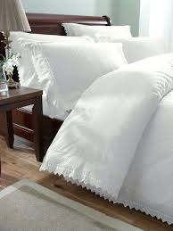 percale duvet cover luxury percale embroidered duvet cover set king white