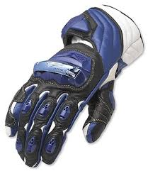 Teknic Violator Glove Blue White Motorcycle Gloves