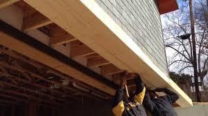 the garage doorBuilding a Roof Over the Garage Door  YouTube