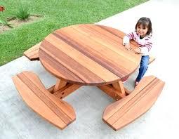 child picnic table umbrella interesting kid size round wood picnic table kit forever redwood picnic table