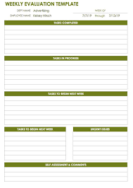 Weekly Evaluation Forms 28 Free Time Management Worksheets Smartsheet
