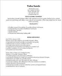 Resume Templates: Juvenile Probation Officer