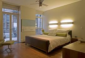 Apartment:Modern Apartment Bedroom With Master Bed And White Bedding With  Two Wall Lamps And