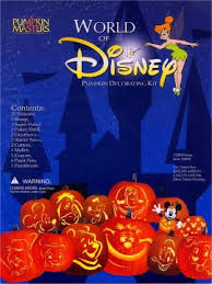 disney pumpkin carving kit. 2002 (4 patterns), world of disney pumpkin carving kit r