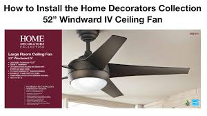 how to install 52 in windward iv ceiling fan youtube