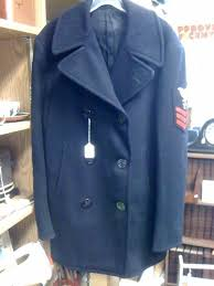 vintage military pea coat and web belts i found this handsome wwii navy