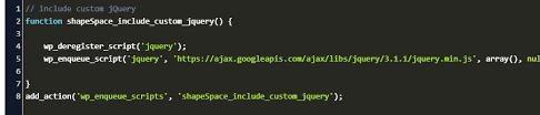 wp enqueue script jquery code exle