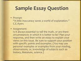 first things first  the prompt embrace the topic ppt  sample essay question  prompt a little inaccuracy saves a world of explanation c e