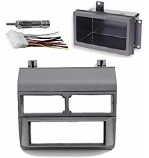 amazon com double din dash kit harness antenna adapter and pocket 1988 1996 gray chevrolet gmc complete single din dash kit pocket kit
