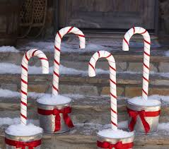 Plastic Candy Cane Decorations Inspiration PBK Candy Cane Stakes Use large plastic candy canes 14