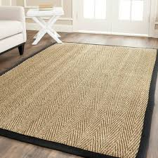 woven vinyl placemats hand sisal natural black seagrass rug x