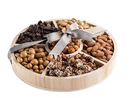 nut gift arrangement 6 section round nuts gift tray nuts gift basket small walmart