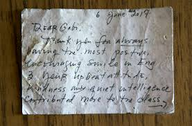 A Lost Letter A Facebook Post A Teacher Student Reunion
