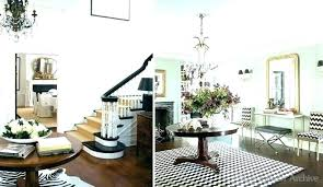 round entrance table entry hall way design decor images