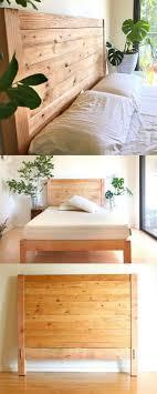 if you want to build a wood platform bed integrated with a headboard you can check out our diy bed frame tutorial here