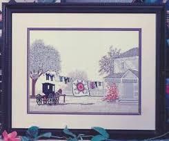 Details About Color Charts Amish Star Cross Stitch Leaflet Steve Polomchak House Quilt Buggy