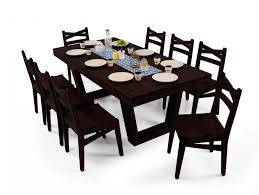 Eating Table Buy Henry 6 Seater Dining Table Online Mahogany Purplestem