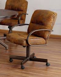 spectacular dining chairs with casters for your home concept tempo industries dallas 5 piece caster