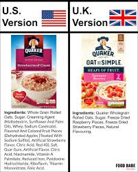 did you know quaker oats strawberries cream has zero strawberries in the u s quaker mimics the look and taste of real strawberries by using flavored