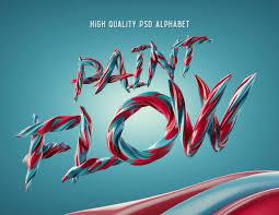 paint flow alphabet