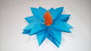 Easy Paper Origami Flower How To Make Easy Simple Origami Flower With Colour Paper