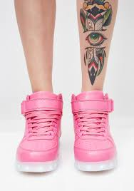 Light Up Creepers Bubblegum Chrome Invader Light Up Sneakers Shoes Light