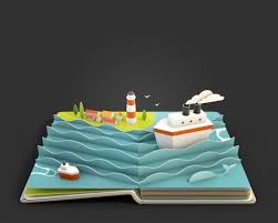 3d rendered pop up pages of beautiful landscapes by anna paschenko what an art