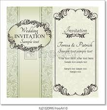 Baroque Wedding Invitations Free Art Print Of Baroque Wedding Invitation Brown Antique Baroque
