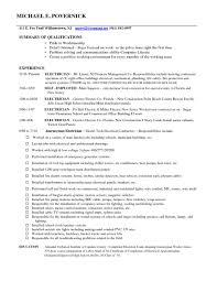 Electrician Duties Responsibilities Resume Free Resume Example