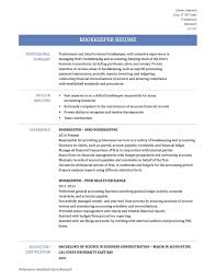 Bookkeeping Resume Example Bookkeeper Resume Sample Bookkeeping Resume Sample X Bookkeeping 40