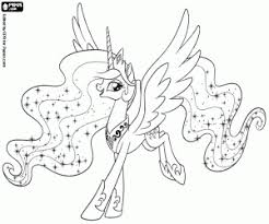 princess celestia my little pony daybreaker my little pony coloring page